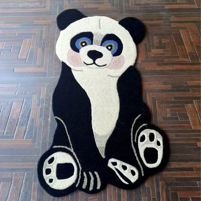 Animal Shape Cute Panda Hand Tufted Decorative Wollen Carpet