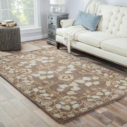 jaipur rugs online : Buy Dark Grey Classic Oriental Area Rug - 6 x 4 Feet at Low Price