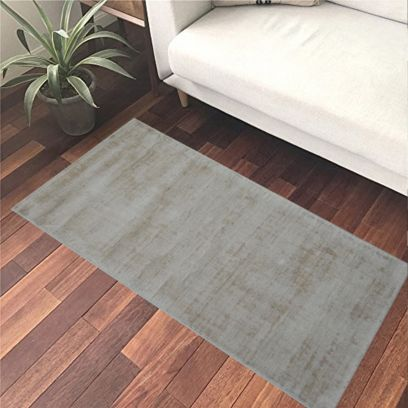 Ivory Hand Knotted Woollen Solid Tip Sheared Rug - 2.6 x 5 Feet