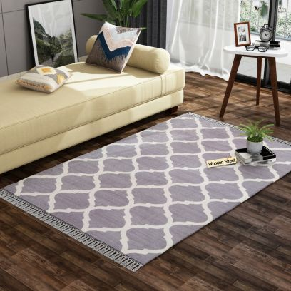 Laria Shade Cotton Flat Weave Rug - 4 x 6 Feet