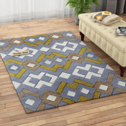 Hand Tufted Carpet in Geometric Design