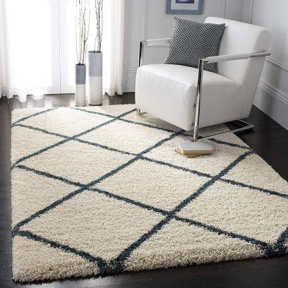 Buy Handwoven Microfiber 6x4 ft Shaggy Carpet Online in India