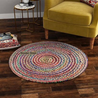 Buy Jute Chindi Round Rug Online in India