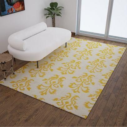 jaipurugs : jaipur living rugs in white-modern-flat-weaves-tribal-pattern-rug---8-x-5-feet