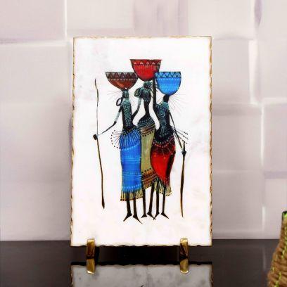 Folk Spirit Decorative Plate Showpiece