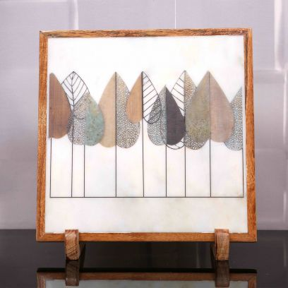 Till Eternity Marble Decorative Plate Showpiece