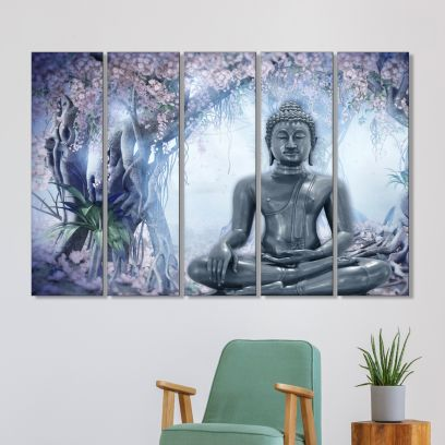 Meditating Buddha wall painting for living room in india