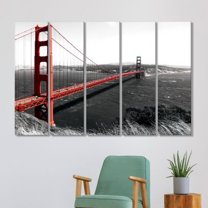 Autumn Forest MDF Art Panels - Set of 5 Frames