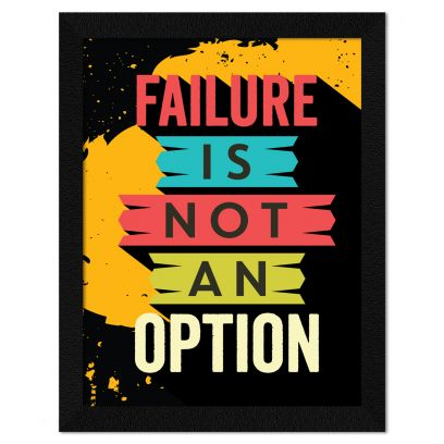 Multicolor Motivational Quote Synthetic Wood Framed Painting