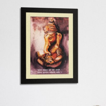 Premium Mantra with Mount Synthetic Wood Framed Painting