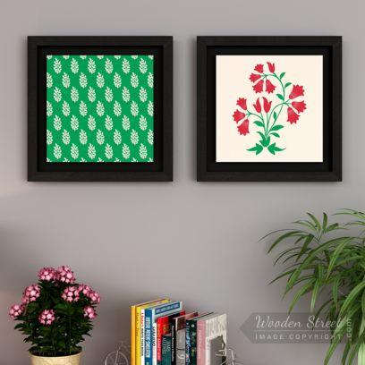 Redoo Spring Bloom Floater Framed Wall Art