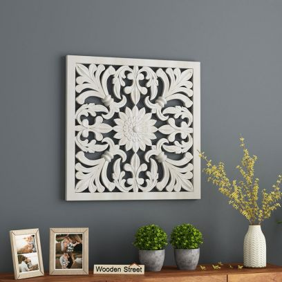 Marie Wall Panel without Glass (White Finish, 24 x 24)