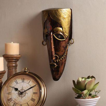 Multicolour Metal Decorative Wall Mask