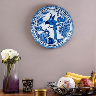 Blue Delftware Dutch Pottery Wall Plate - 8 inch