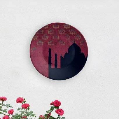 Blue Taj Mahal Decorative Wall Plate