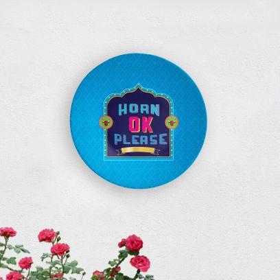 Horn Ok Please Decorative Wall Plate
