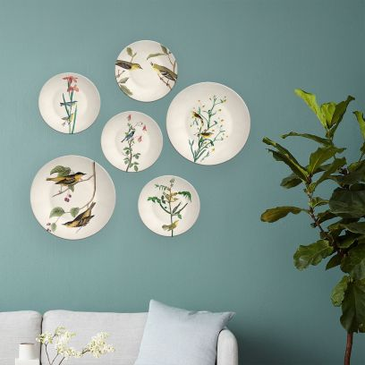 Indian Birds Decorative Wall Plates- Set of 6
