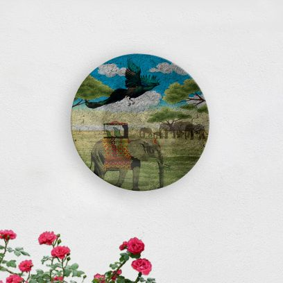 Mughal Safari Decorative Wall Plate