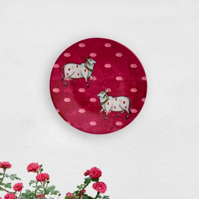 Sacred Cow Decorative Wall Plate