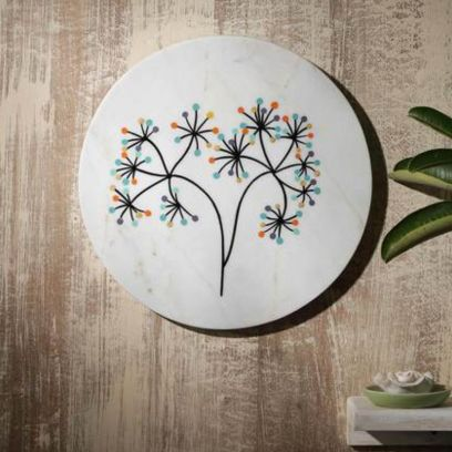 Tree of Life Marble Wall Plate
