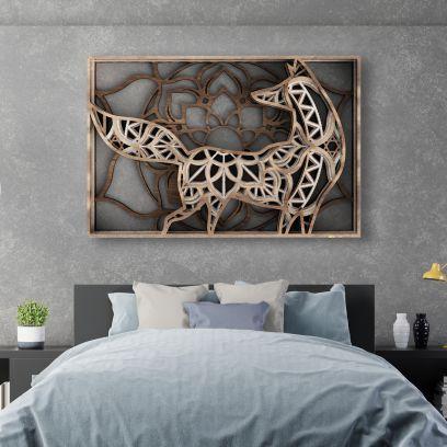 Brown Fox Wooden Wall Art