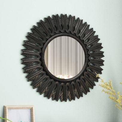 Apollo Circular Carved Wall Mirror