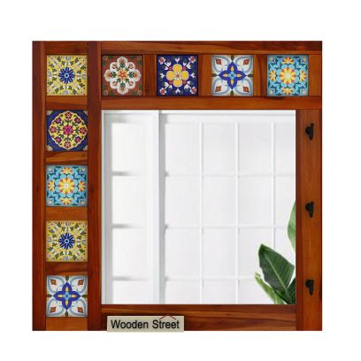 Solid Wood Mirror Frame in India