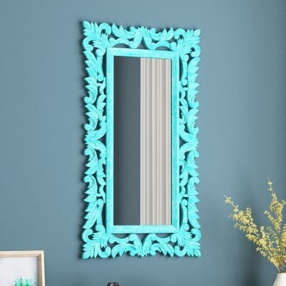 Elara Tall Carved Wall Mirror