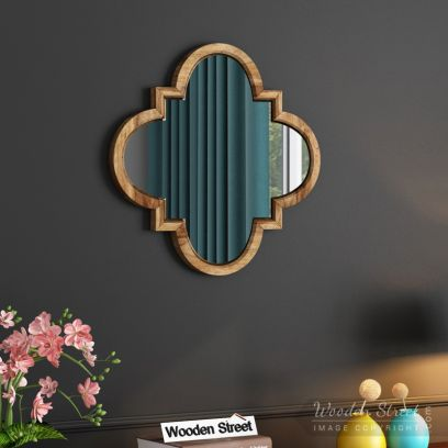 Fleur Decor Mirror with Frame (Natural Finish)