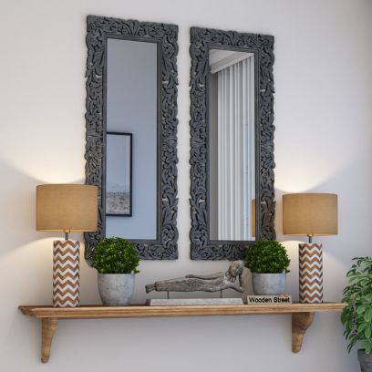 Meadow Mirror With Frame (Grey Distress)