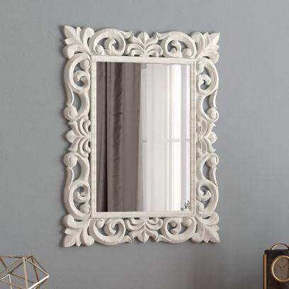 Folia Tall Carved Wall Mirror