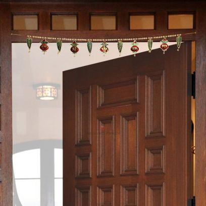 Shubh Labh and Shree Ganesha Nama Metal Door Hanging Bandhanwar - Handicrafts Paradise