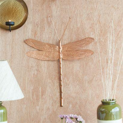 Copper Finish Dragonfly Wall decor