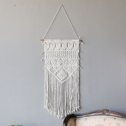 Macrame Off-White Woven Wall Hanging