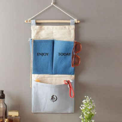 Multipurpose 3 Pocket Multicolour Wall Hanging Organizer