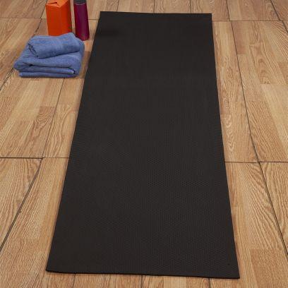 Black Textured Anti Skid Yoga Mat