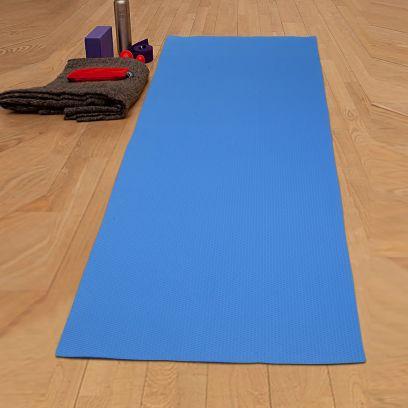 Blue Textured Anti Skid Yoga Mat