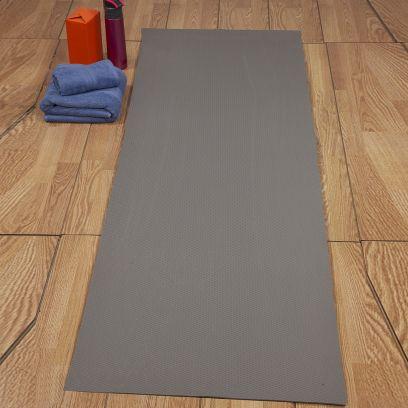 Grey Textured Anti Skid Yoga Mat