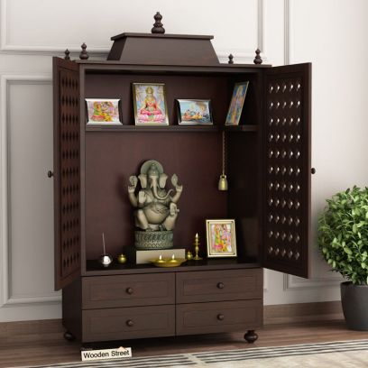 Maurya Home Temple (Walnut Finish)