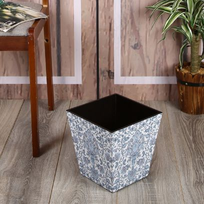Damask Wooden Open Dry Dust Bin