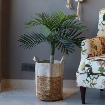 Jute Cotton Storage Basket | Housekeeping Products