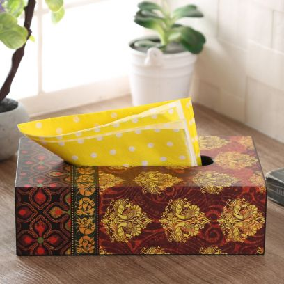 Anapakshi Wooden Tissue Paper Box