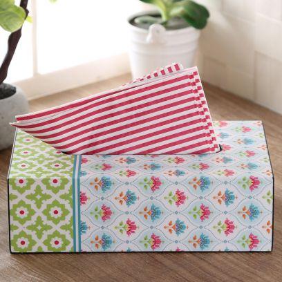 Lotus Wooden Tissue Paper Box