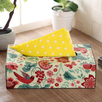 Palampore Wooden Tissue Paper Box