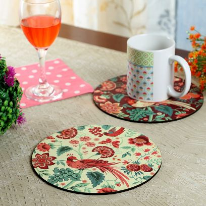 Palampore MDF Trivets - Set of 4
