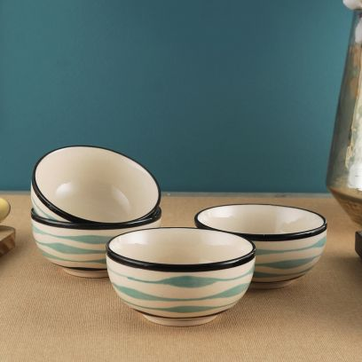 Off White Ceramic Bowls - Set of 4