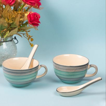 Buy Soup Bowls Set With Spoon Online