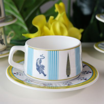 Essence Ceramic Cup and Saucer - Set of 6