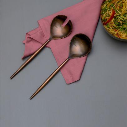 Copper Colour Serving Spoon - Set of 2