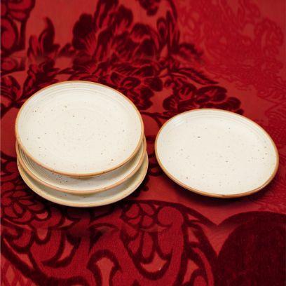 white matte finish serving plates online at low price in bangalore, mumbai